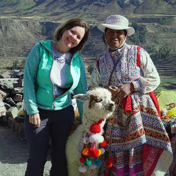 Simone in Peru - Alpakas am Rennsteig, Masserberg in Thüringen